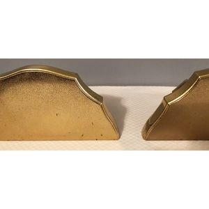 Home Interiors Wall Art - 2 Home Interiors Gold Wall Shelves